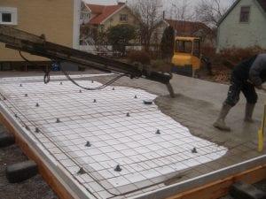 Grundplatta på mark för attefallshus